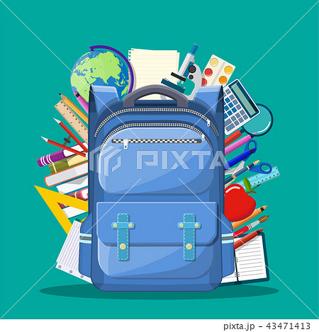 School backpack with books, 43471413