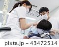 歯医者 患者 歯科医の写真 43472514
