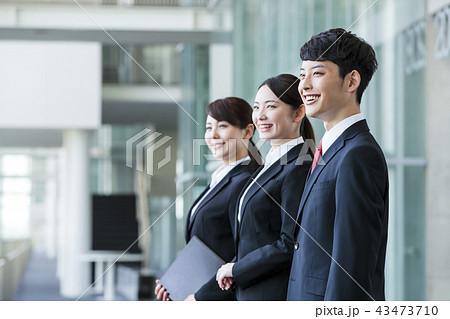 ビジネス リクルート 就職活動 ビジネスマン オフィス 新入社員 ビジネスウーマン チーム 43473710