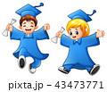 キッズ 子供 卒業のイラスト 43473771