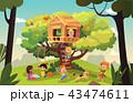 樹木 樹 ツリーのイラスト 43474611