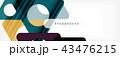 ジオメトリック 幾何学的 背景のイラスト 43476215