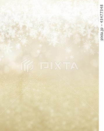 背景-雪-クリスマス-ゴールド-キラキラ 43477348