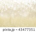 背景-雪-クリスマス-ゴールド-キラキラ 43477351