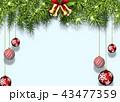 クリスマス 背景 オーナメントのイラスト 43477359