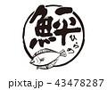 ひらめ 筆文字 文字のイラスト 43478287