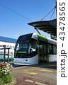 ポートラム 電車 路面電車の写真 43478565