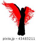silhouette of flamenco dancer 43483211