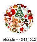 クリスマス ポスター 張り紙のイラスト 43484012