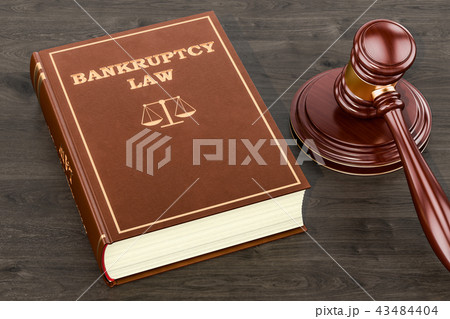 Bankruptcy law concept, 3D rendering 43484404