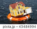 住まい 自宅 住居のイラスト 43484994
