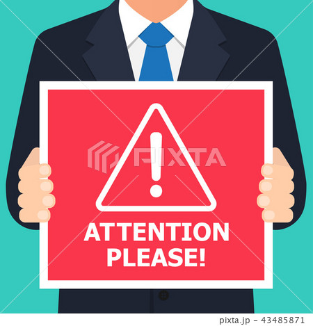 Alert signs vector. Attention please 43485871