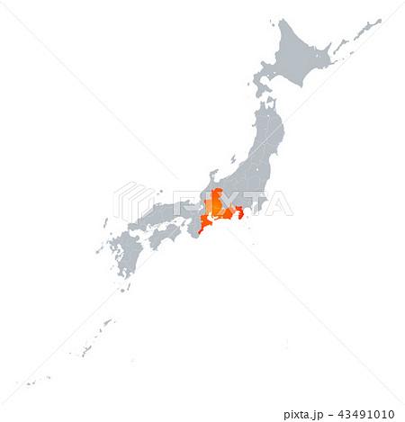 東海地方と日本列島 43491010