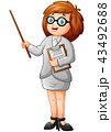 女性 先生 教師のイラスト 43492688