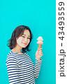 食べ物と女性 カラーバック 43493559