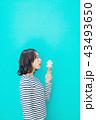 食べ物と女性 カラーバック 43493650