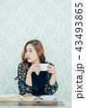 ライフスタイル コーヒーを飲む女性 43493865