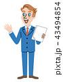 外国人 ビジネスマン 男性のイラスト 43494854