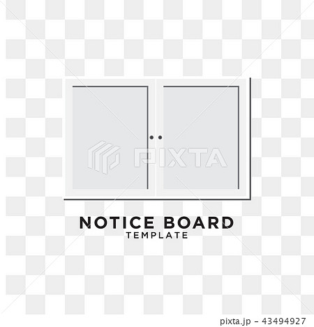 notice board graphic design templateのイラスト素材 43494927 pixta
