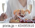 パーティ 会食 女性の写真 43495910