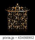 抽象的 アート BOXのイラスト 43498902