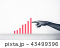 成長 グラフ ビジネスの写真 43499396