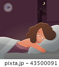 Woman lying in bed suffering from insomnia. 43500091