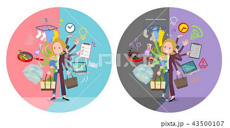 flat type blond hair business women_mulch task 43500107