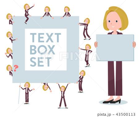 flat type blond hair business women_text box 43500113