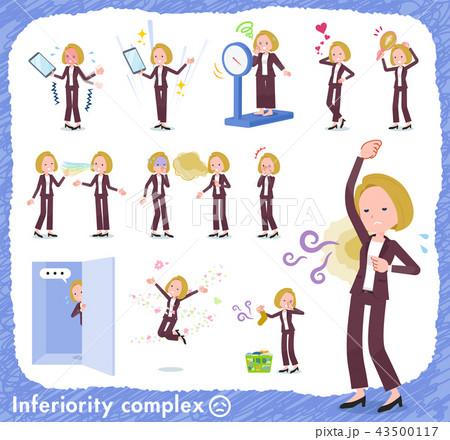 flat type blond hair business women_complex 43500117