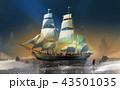 船 航海 帆のイラスト 43501035