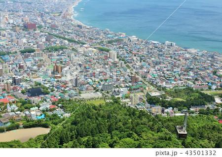 北海道 函館の風景とロープウェイ 43501332
