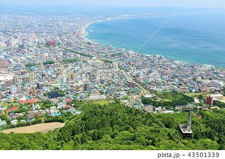 北海道 函館の風景とロープウェイ 43501339