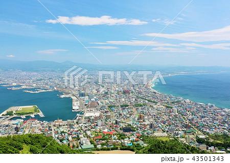 北海道 青空の函館 43501343
