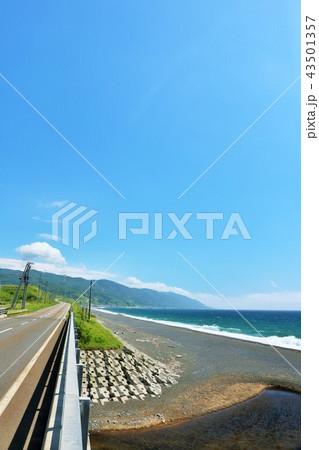 北海道 青空と海  43501357