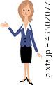 受付 女性 OLのイラスト 43502077