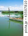ボート 湖 湖岸の写真 43507810