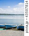 ボート 湖 湖岸の写真 43507814