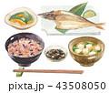 焼き魚定食 かます 五穀米 43508050