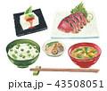 日本食 和食 定食のイラスト 43508051