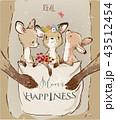 Mom kangaroo with little kids on her sac 43512454