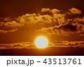 冬の朝日と雲2_818 43513761