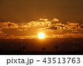冬の朝日と雲_817 43513763