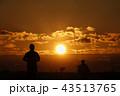 朝のランニングと太陽と雲_819 43513765