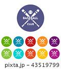ベースボール 白球 野球のイラスト 43519799