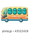 学校 バス 車のイラスト 43522428