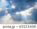 空 雲 光芒の写真 43523406