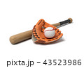 バット ベースボール 白球のイラスト 43523986