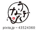 筆文字 うなぎ 文字のイラスト 43524360