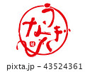筆文字 うなぎ 文字のイラスト 43524361